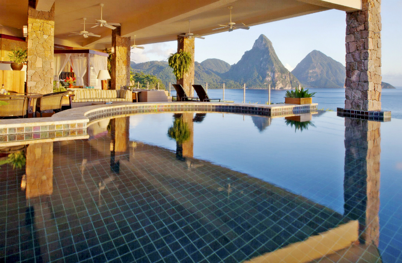 Eco-Friendly Hotels - Jade Mountain Resort