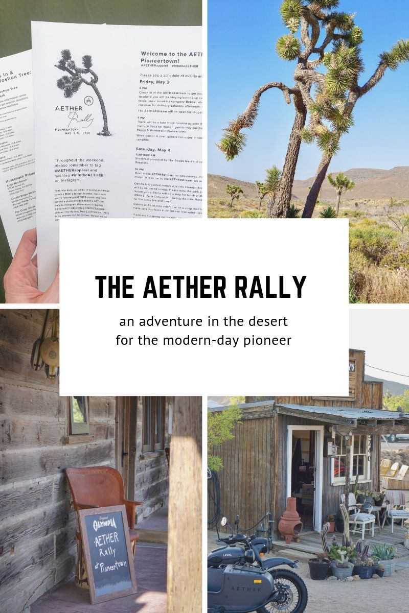The Aether Rally in Pioneertown California