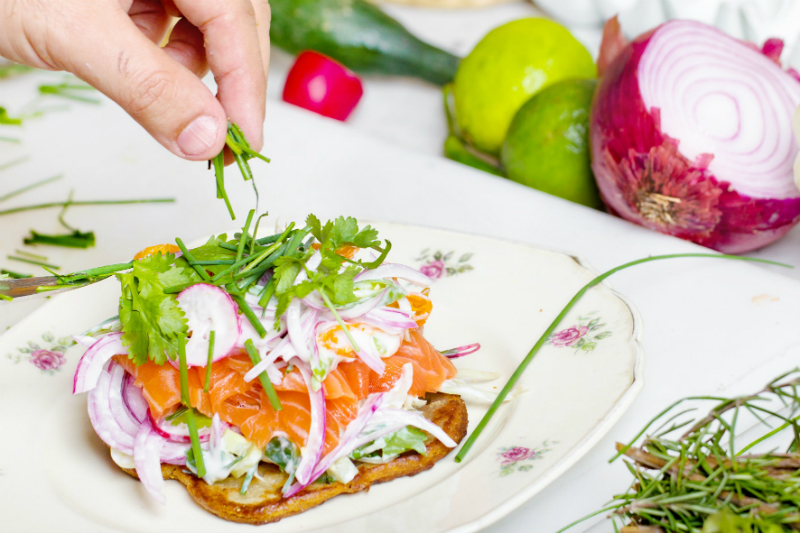 Mother's Day Brunch Recipes - Cuisiniers Pisco Cured Salmon