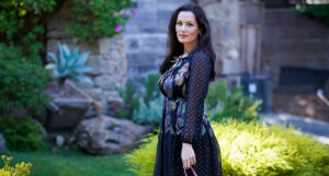 An Enchanting Way To Style a Dark Floral Dress for Fall - 2019 Fall Fashion Trends