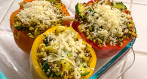 Vegetarian Quinoa Stuffed Bell Peppers Recipe
