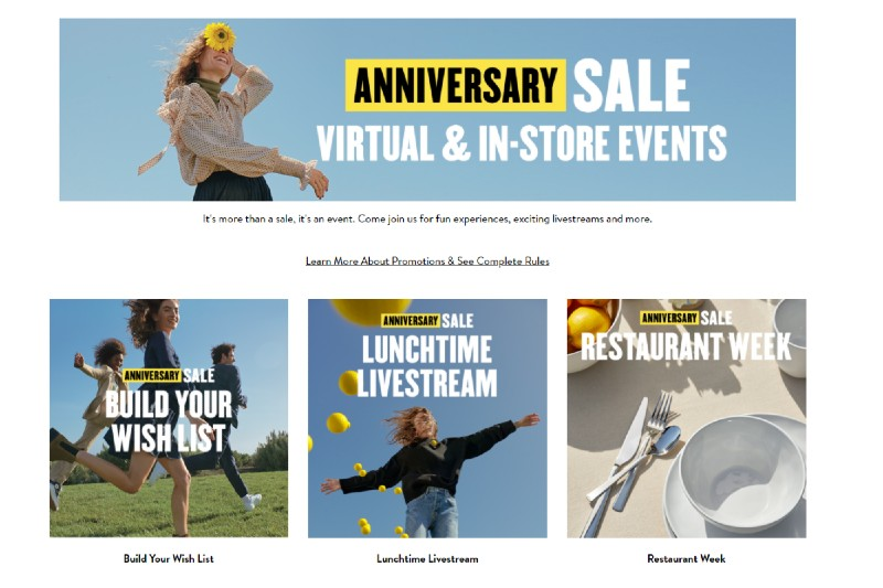 Nordstrom Anniversary Sale Events